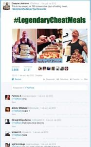 Dwayne Johnson legendary cheat meal
