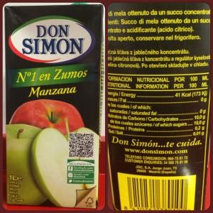 zumo brik fruta