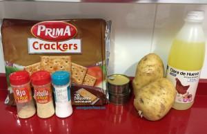 Ingredientes naturales para hacer croquetas