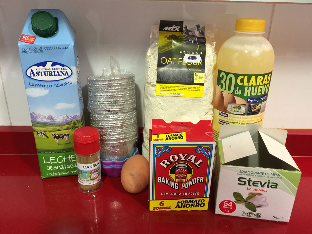 ingredientes necesarios para hacer muffins