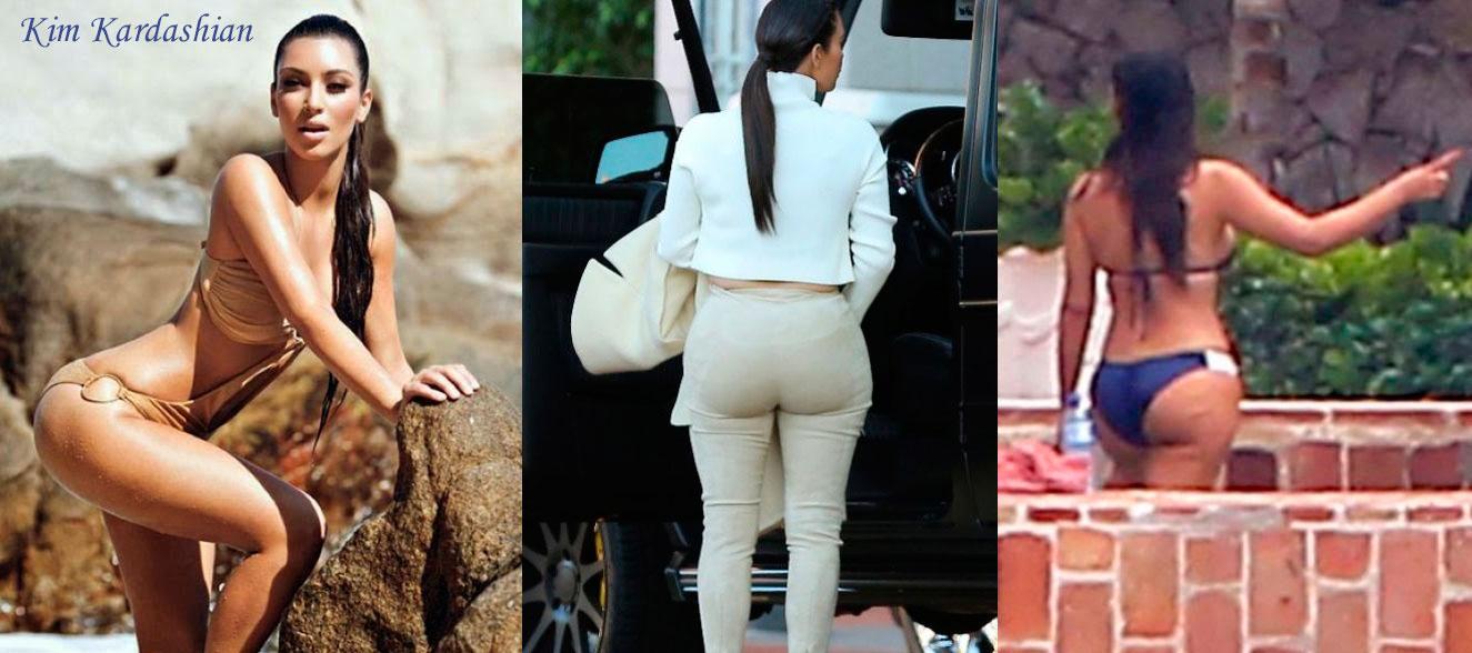 Kim Kardashian posando y pillada