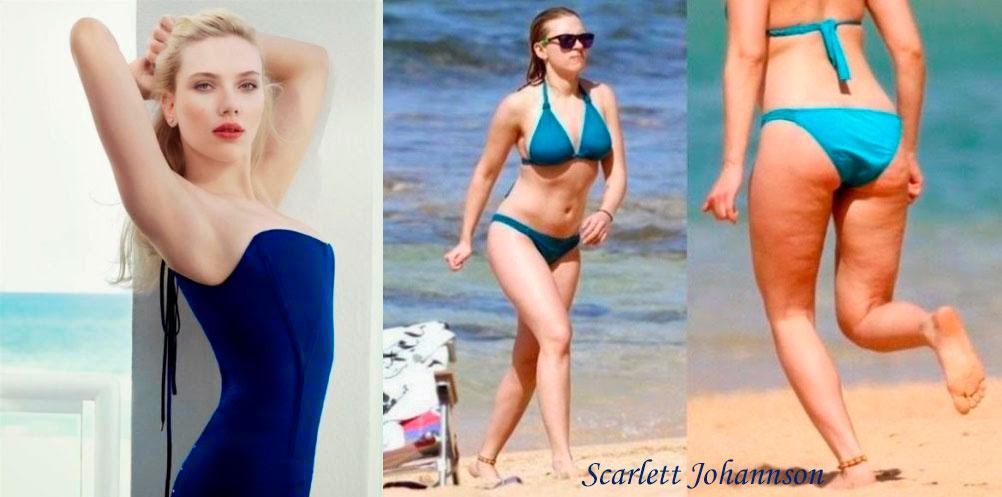 Scarlett Johannson celulitis