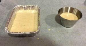 masa de bizcocho en molde