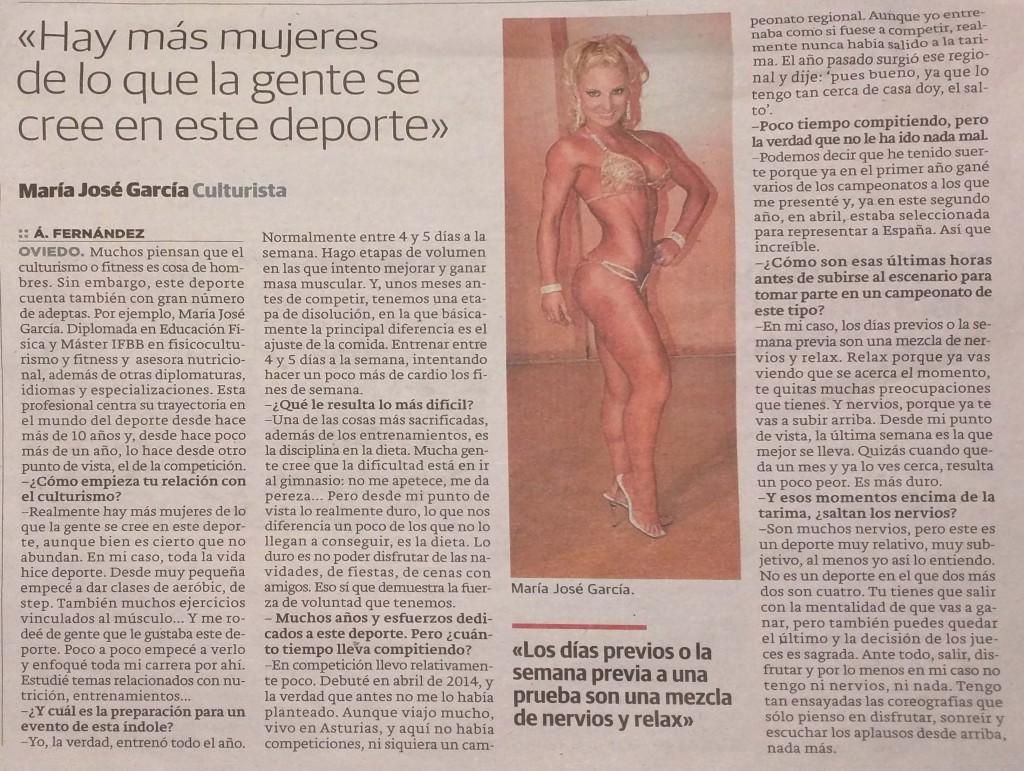 Entrevista María José García El Comercio