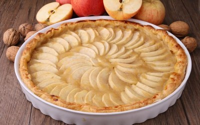 Tarta de manzana baja en grasa