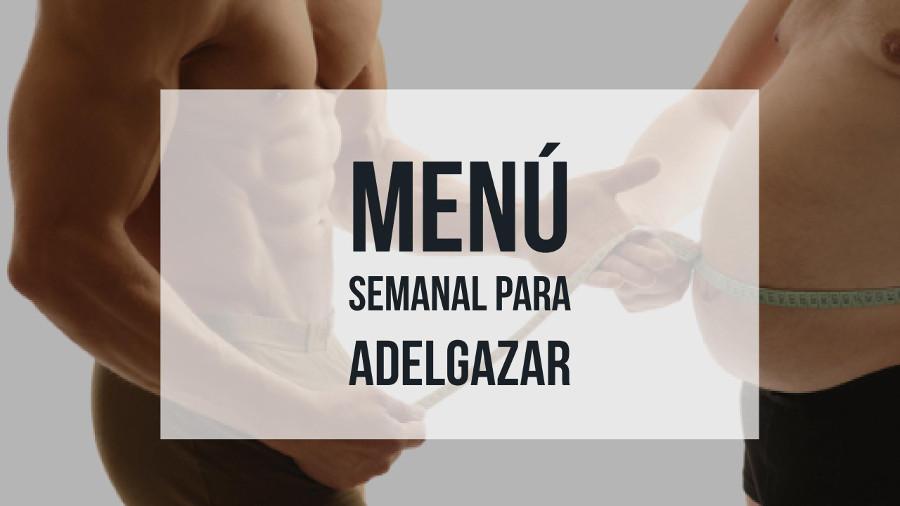 menu semanal para adelgazar