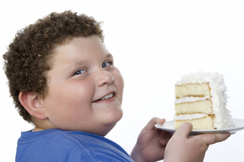 niño con sobrepeso