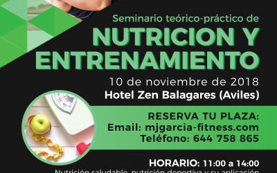 Seminario teórico-práctico de Nutrición y entrenamiento